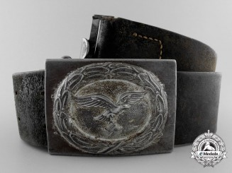 A 1940 Pattern Luftwaffe Enlisted Man's Belt with Buckle by H.Aurich