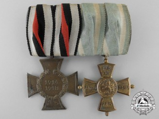 An Bavarian First War Group of Two Awards