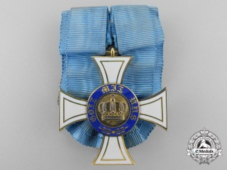 A Prussian Order of the Crown; Third Class Cross in Gold by Wagner