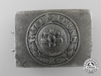 A German Army Converted French Lorraine Cross Belt Buckle