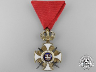 A Serbian Order of Kara-George with Swords; 4th Class