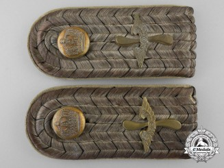 A Pair of First War Prussian Pilot's Shoulder Boards