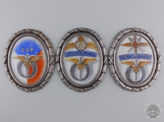 Post WWII Czech Air Force Commemorative Badges