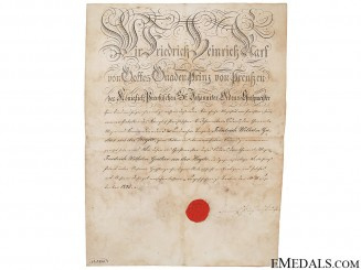 Prussian Order of St.John signed by the Prince