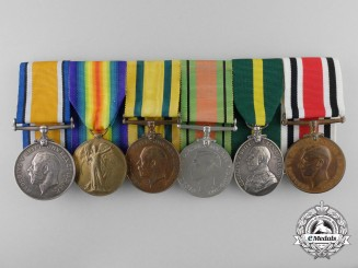 A Territorial Force & Constabulary Service Medal Group to Gunner Grey