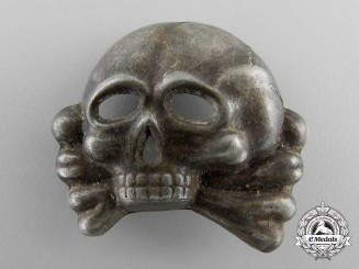 An SS Skull 1st Model for Visor Cap