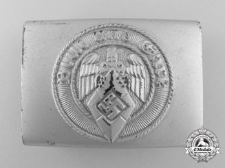 An HJ Belt Buckle by Klein & Quenzer; Published & Control Tagged