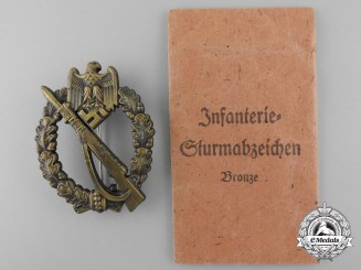 A Mint Bronze Grade Infantry Badge with Packet of Issue by Josef Feix & Sohn