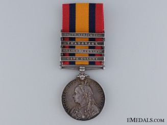 Queen's South Africa Medal to the 1st Riding Regiment