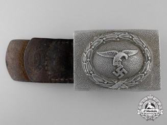 A 1935 Pattern Luftwaffe Enlisted Man's Belt Buckle to Clothing Department
