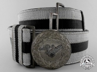 A 4th Pattern Air Raid Protection League (RLB) Officer's Brocade Dress Belt; Published