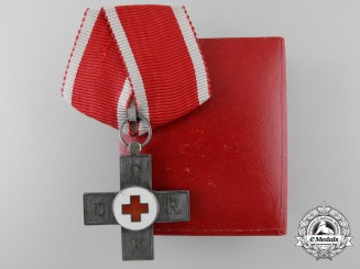 A Rare Danish Red Cross Award; First Class with Case