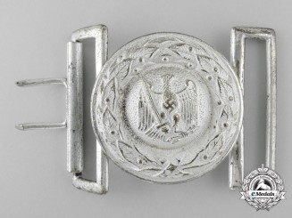 A Third Reich Justice Official's Belt Buckle; Published Example