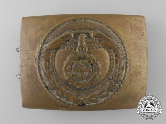 An Early SA (Sturmabteilungen) Enlisted Man's Belt Buckle; Unknown Maker