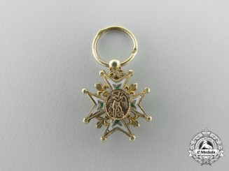A French Miniature Order of St. Michael in Gold 1815-1830