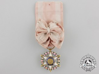 A Brazilian Order of the Rose in Gold; Officer's Breast Badge