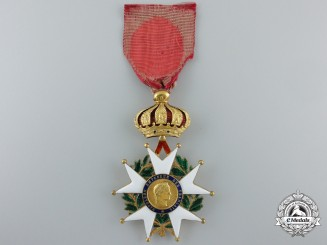 An 1852-70 French Legion D'Honneur in Gold; Second Republic
