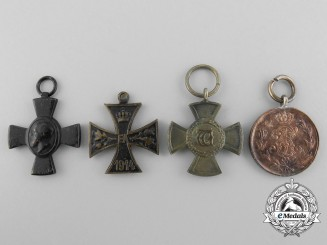 Four Miniature German Imperial Medals and Awards