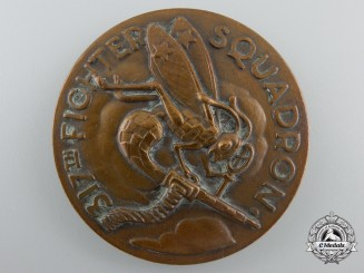 A Second War American 317th Fighter Squadron Medal