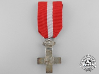 A Spanish Order of Military Merit; Silver Cross with Red Distinction 1886-1931