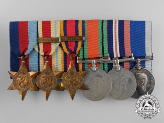 A Royal Canadian Navy Long Service Medal Grouping to Chief Petty Officer Roger W. Unwin