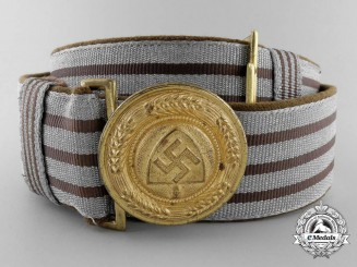 A RAD General Officer's Brocade Dress Belt with Buckle by Overhoff & Cie; Published