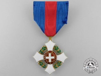An Italian Military Order of Savoy in Gold; Knight's Breast Badge