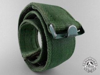 An Unusual Modified Afrika Korps Compartment Webbed Belt; Published