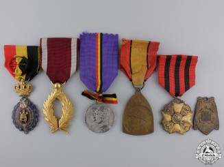 Six Belgian Medals, Orders, and Awards