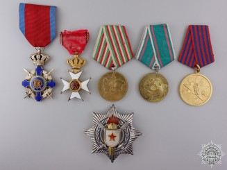 Six European Orders, Medals, and Awards