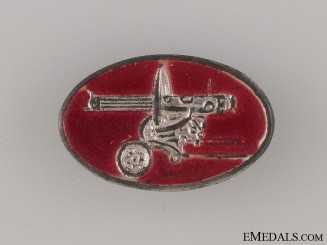 Spanish Civil War Communist Machine Gun Badge