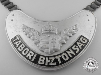 A Second War Hungarian (Army) Military Police Gorget
