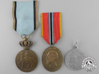Three Romanian Commemorative Medals