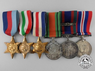 Six Second War Canadian Campaign Medals & Stars with Boxes