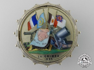 A Uniquely Enameled Turkish Crimea Medal 1855-56 to the 47th Regiment