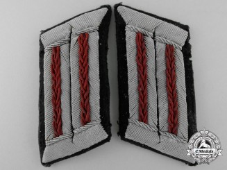 A Rare Set of German Smoke Troops Officer's Collar Tabs