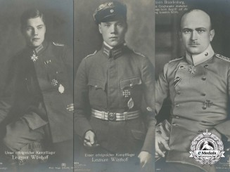 Three German Imperial First World War Flyer Picture Postcards