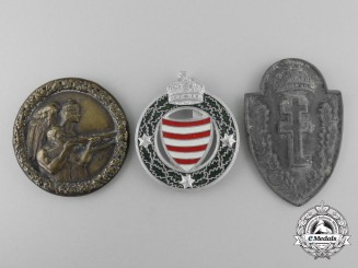 Three Hungarian Badges
