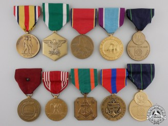Ten  American Armed Forces Medals and Awards