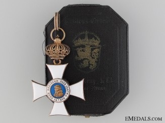 A Hessen Order of Philip; First Class with Crown & Case
