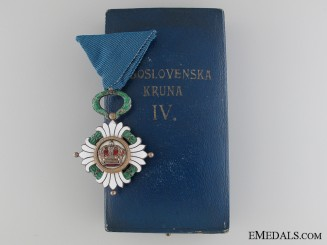 The Order of the Yugoslav Crown; Fourth Class
