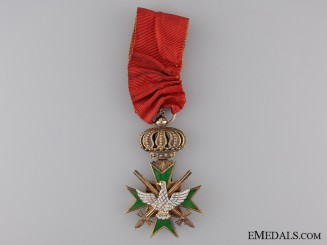 The Order of the White Falcon; Knight First Class with Swords in Gold
