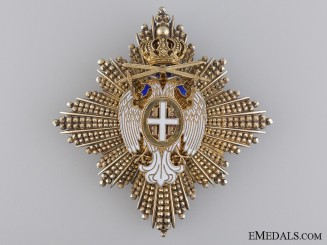 The Order of White Eagle; Breast Star 2nd Class with Swords