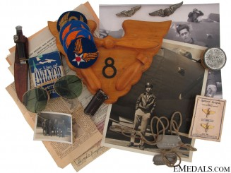 The Personal Effects of Army Air Force DFC Winner 1st Lt. Edward C. Kinzler