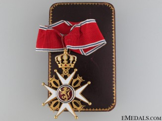 A Royal Norwegian Order of St. Olav; Commander's Cross in Gold