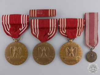 Three American Army Good Conduct Medals; Named