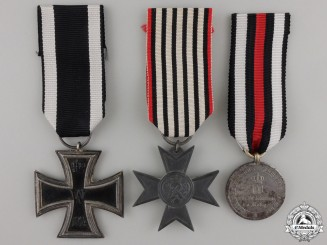 Three First War German Imperial Medals and Awards