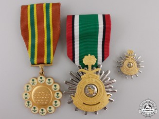 Three Saudi Arabian Medals and Awards
