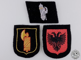 Three SS Foreign Volunteer Service Insignia