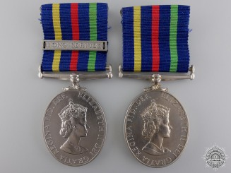 Two British Civil Defence Long Service Medals